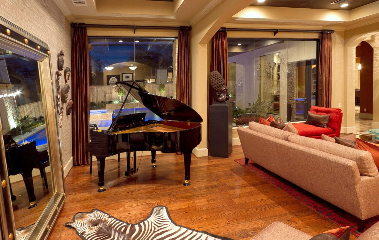 Living Room | New Construction | Design & Build | Spring Valley | Houston, TX