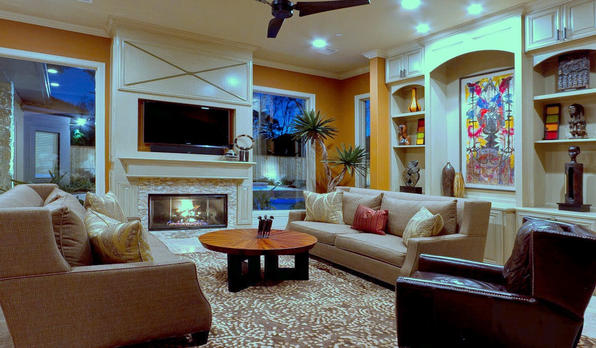 Living Room | New Construction | Design & Build | Spring Valley | Houston, TX