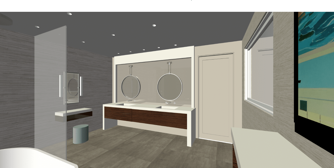 3D Concept | West University Master Bathroom | Houston, Texas | 2015