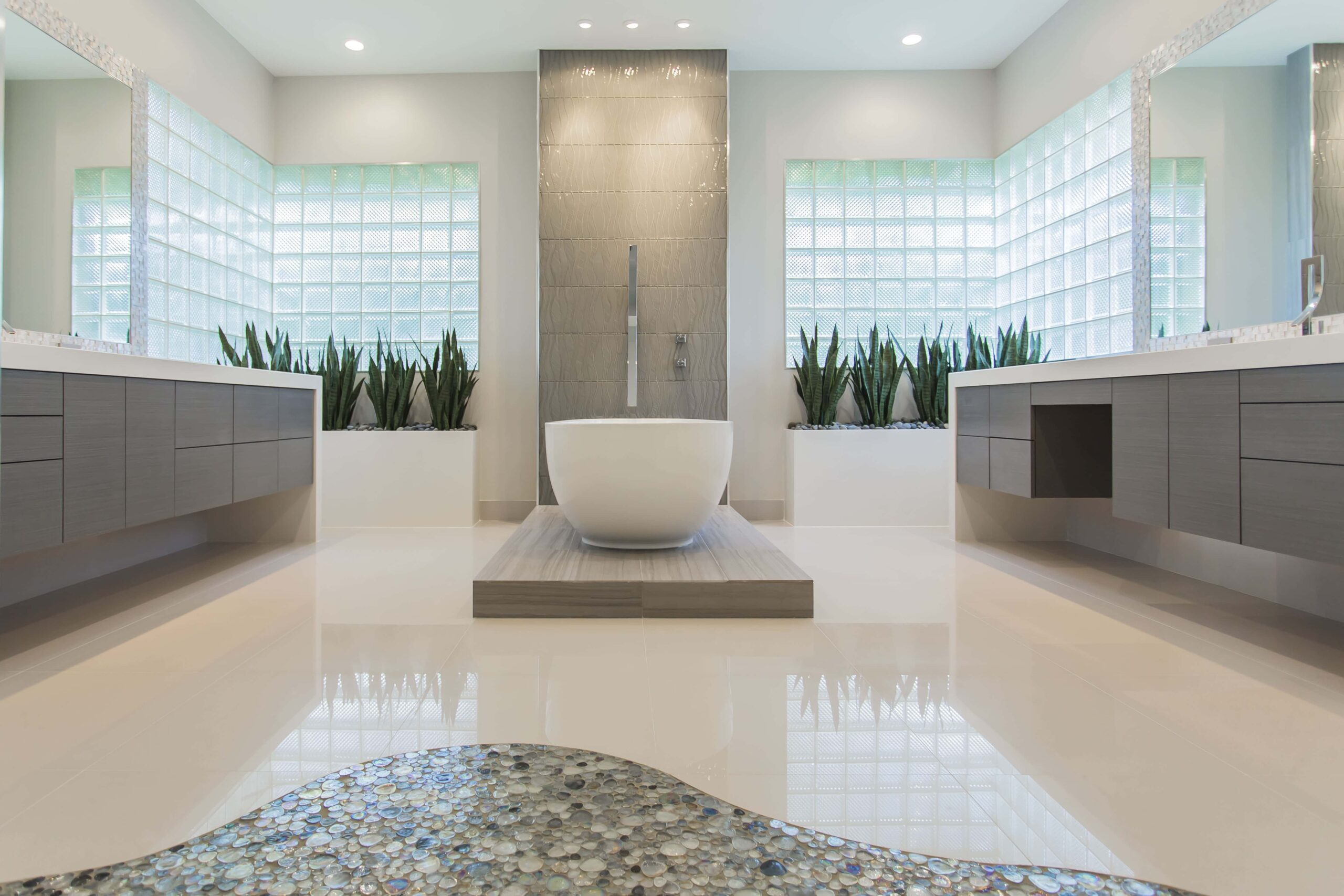 Houston Tx Bathroom Remodeling Mesmerizing Memorial Modern Master Bath Remodel  Houston Tx  2015 . Inspiration Design