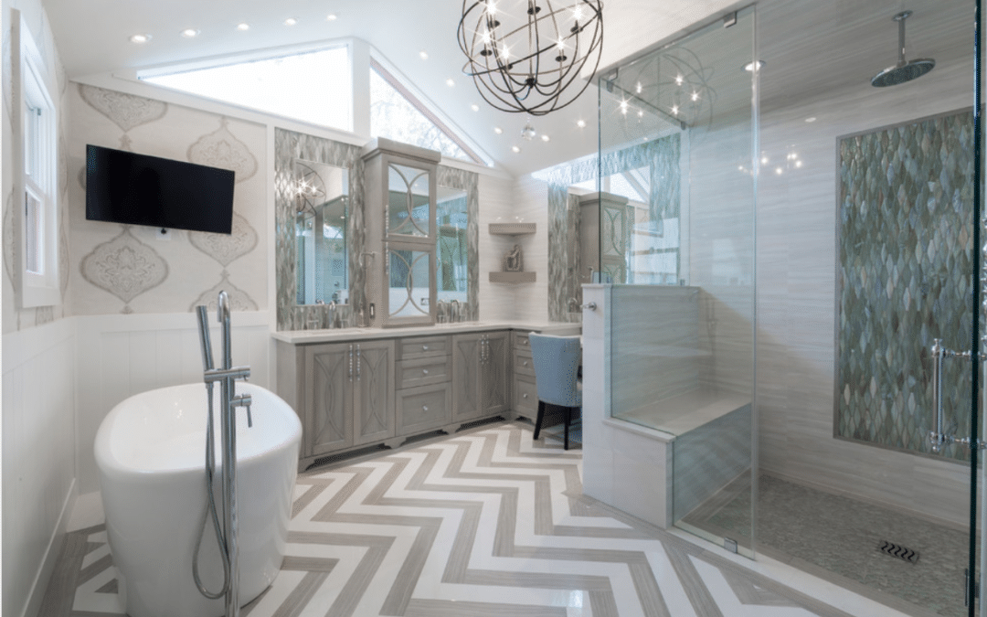 Rice University | Houston, Texas | Spacious & Luxurious Spa Bath & Closet Remodel
