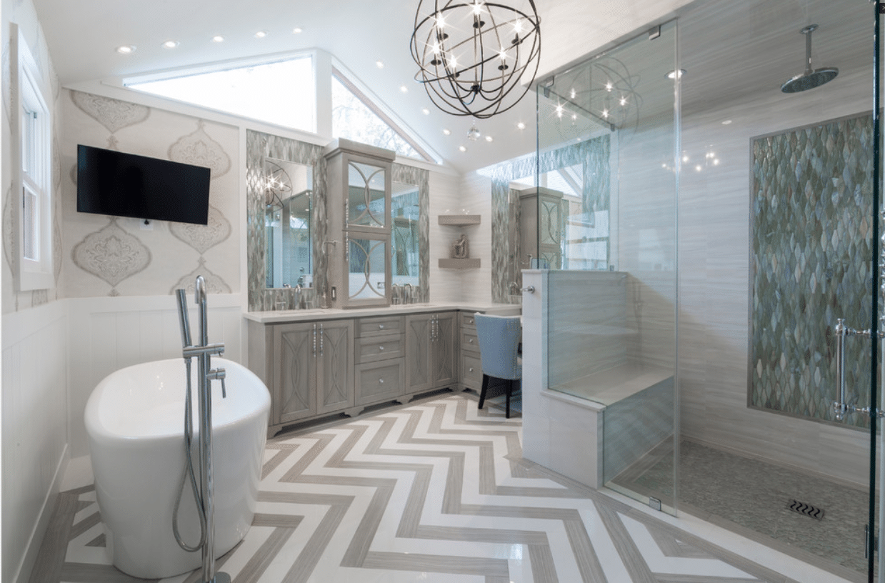 Rice University | Houston, TX | Spacious & Luxurious Spa Bath & Closet Remodel