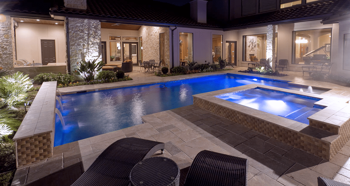 Pool & Spa | New Construction | Design & Build | Spring Valley | Houston, TX