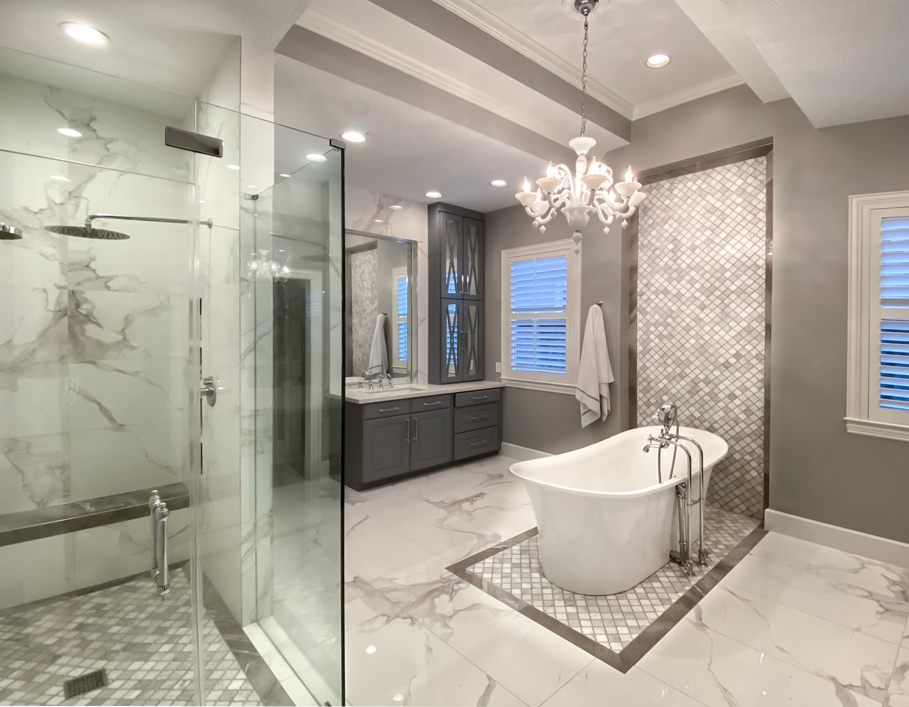 SaveEmail Memorial Modern Master Bath Remodel | Houston, TX | 2015