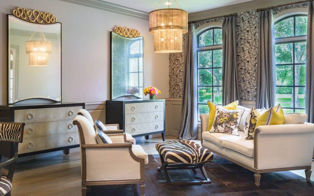 Dramatic Cobalt & Gold | Memorial Home Renovation | Houston, TX | 2016
