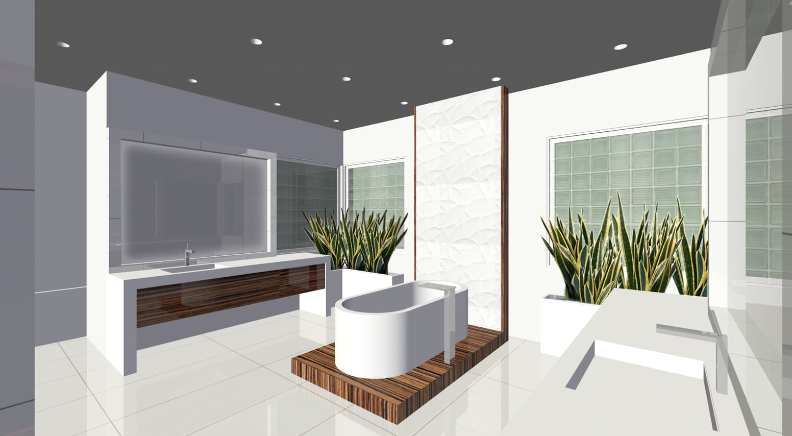 3D Concept | Memorial Modern Master Bath Remodel | Houston, TX | 2015